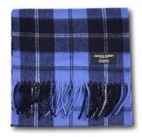 Gretna Green 格林小镇 拉姆齐蓝色经典格子 高级羊绒围巾