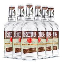 永丰牌北京二锅头白酒 小方瓶纯白酒整箱小麦高粱白 50度 棕标整箱500ml*6