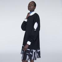 BABYGHOST原创设计师品牌女装 镂空拼接套头宽松连身裙休闲连衣裙