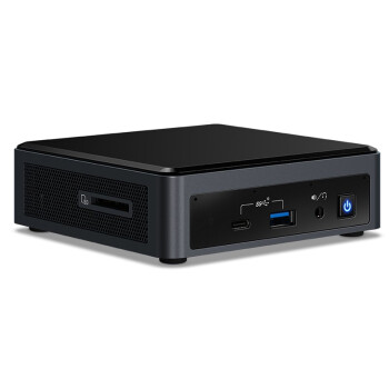 intel 英特尔 NUC 寒霜峡谷 NUC10i7FNK 迷你电脑主机 i7-10710U 黑色