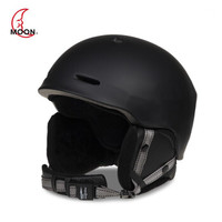 MOON蓝牙滑雪头盔男女通用单板双板装备护具冬季滑雪运动安全帽 炫酷黑 M