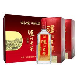 泸州老窖 特曲 52度 礼盒装 500ml*2瓶 浓香型白酒((内置酒具 含礼品袋))(新老包装随机发货) *3件