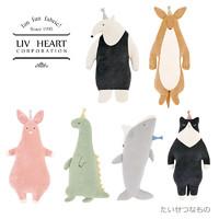 LIVHEART 恐龙/鲨鱼/粉猪/袋鼠/猫/食蚁兽 毛绒玩具 S号 多款可选 *7件