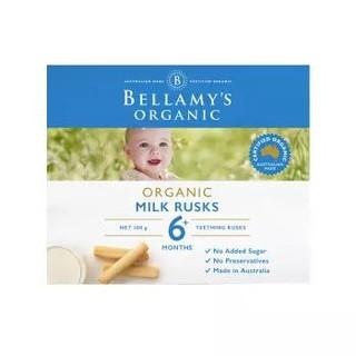 贝拉米 Bellamy's 婴幼儿辅食 宝宝磨牙棒 6个月以上 100g/盒 澳洲进口 哄娃神器 *4件
