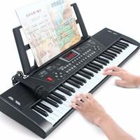 八度宝贝 电子琴儿童音乐玩具 61键雅致黑
