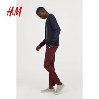 H&M HM0633234 男装秋季款修身棉质中腰紧身长裤