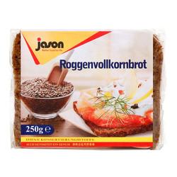 捷森 全麦黑麦面包 250g*2袋 *2件