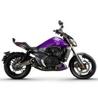 升仕ZONTES 2019新款310V ABS国四碟刹单缸水冷电喷310cc摩托车 深灰亮紫
