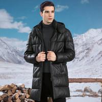 雪豹 55163463789 秋冬长款保暖羽绒外套