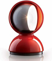 Artemide Eclisse 台灯,直径 12 厘米 高 18厘米 红色 Ø 12 H 18 cm 需配变压器