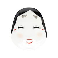 日本 有田烧  金照堂 阿福笑颜盘 大号(带支架)  餐具  材质:瓷器 产品产地: 佐贺县 尺寸: 长20.4cm x 宽17.2cm x 高3cm