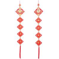 Naphele 奈菲乐 春节中国结对联挂件 中国结五联灯笼串