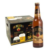 HUBERTUS 狩猎神 德国进口瓶装白啤酒 500ml*20瓶 *6件