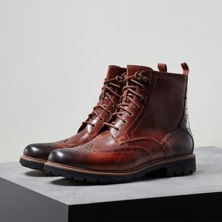 京东PLUS会员 : Clarks Batcombe Lord 男士布洛克短靴