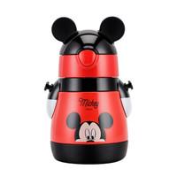 Disney迪士尼儿童吸管保温杯米奇304不锈钢学饮杯宝宝喝水杯子小孩幼儿水杯 米奇红-3468
