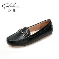 satchi 沙驰 女鞋2019秋季新款平底休闲鞋 四季鞋