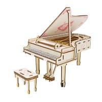 举名 木质3D拼图 HG钢琴 48pcs