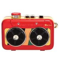 猫王收音机 MW-P6猫王霹雳唱机 便携式复古蓝牙外迷你小音响 国潮红