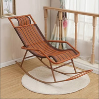 摇摇椅午睡床 现代简约环保仿藤休闲椅躺椅B78(2-3天左右发货)(黑红基本款 散装发货)