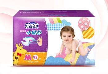 Anerle 安儿乐 薄薄小轻芯系列 通用纸尿裤 M92片