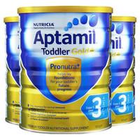 Aptamil 爱他美 金装 婴儿奶粉 3段 900g *3罐装