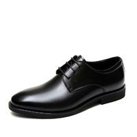 意尔康男鞋秋季真皮软底头层牛皮青年正装皮鞋商务休闲尖头鞋子