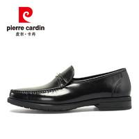 皮尔卡丹真皮正品男士商务英伦正装皮鞋男舒适一脚蹬懒人皮鞋男鞋