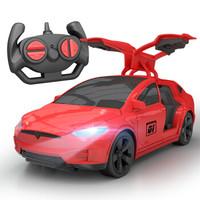 活石遥控车 3056特斯拉电动玩具车 特斯拉红色 赛车车模 *3件
