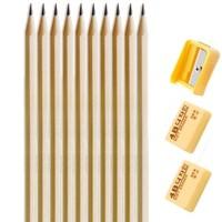 M&G 晨光 铅笔 10支+转笔刀+橡皮