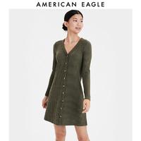 AEO American Eagle19秋季新款女士时尚长袖条纹连衣裙0395_4321 *3件