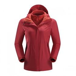 户外登山徒步 防风透气保暖 女款三合一冲锋衣两件套