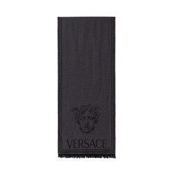 VERSACE 范思哲 女士简约百搭美杜莎流苏围巾
