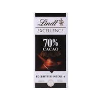 瑞士莲(Lindt)特醇排装70%可可黑巧克力 100g/排