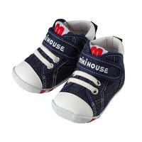 MIKIHOUSE 彩虹男女宝宝一段学步鞋童鞋