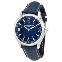 FREDERIQUE CONSTANT 康斯登 Blue Leather 男士手表