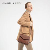 CHARLES&KEITH CK2-80781007金属饰女士翻盖单肩包