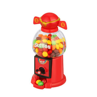 Skittles 彩虹 彩虹糖混合果味财神豆机250g礼盒装 年糖年货 财神款