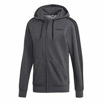 adidas 阿迪达斯男式必备三条纹全拉链羊毛连帽运动衫