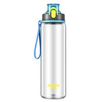 哈尔斯(HAERS)运动水杯随手行杯Tritan塑料杯学生耐摔大容量健身水壶750ml蓝色 *4件