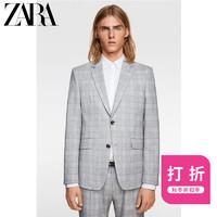 ZARA 新款 男装 格子套装西装外套00706588802