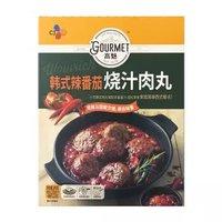 高魅(gourmet)韩式辣番茄烧汁肉丸 240g 6个装 儿童早餐 西餐 烧烤 方便菜 *12件