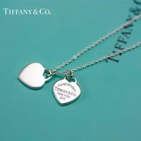 Tiffany&Co 蒂芙尼 925银经典款蓝色珐琅项链