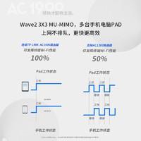 Tp-link AC1900千兆端口路由器tplink家用宽带光纤高速wifi无线双频5g穿墙7660旗舰店学生