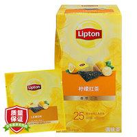 立顿Lipton 茶叶 柠檬红茶调味茶25包45g *2件