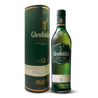 京东PLUS会员 : Glenfiddich 格兰菲迪 12年苏格兰达夫镇单一麦芽威士忌 700ml *2件