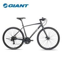 Giant捷安特Escape 1成人男城市休闲通勤24速健身平把公路自行车 深空印象灰 700Cx380MM XS