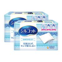 日本进口 舒蔻(silcot) 尤妮佳 化妆棉 卸妆棉 丝滑型 两盒装 82片/盒*2 *3件
