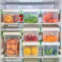 爱丽思IRIS 冰箱蔬菜收纳箱密闭零食水果保鲜盒鸡蛋冷藏收纳盒 浅绿色 组合(2L 3.4L 5L) *3件