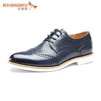 RED DRAGONFLY 红蜻蜓 系带商务正装男士皮鞋
