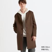UNIQLO 优衣库 420920 男士羊毛混纺长大衣